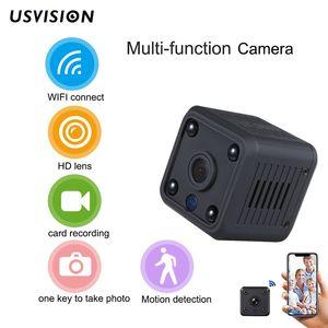 Usvision V380 1080P WIFI IP Camera 2MP Mini Indoor Cube P2P Motion Detection Two Way Audio Fisheye Wireless camcorder Night Version Camera