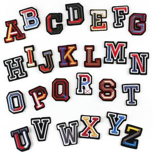 3D Letter Abzeichen Gestickte nähen auf Flecken bunte Namensschilder Hut-Beutel-Hemd DIY Logo versinnbildlicht Crafts Alphabet Dekorationen KKB2869
