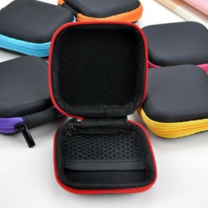 7 Colors Portable Earphone Storage Bag Phone Cable Charger Storage Box Headphone Protective Case Free Shipping GWD4233