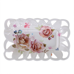 Fruit tray Hollow imitation porcelain decals Fruit basket Household living room Simple and fashionable Candy tray carved tray