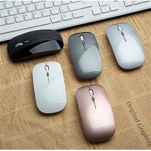Erilles wiederaufladbare optische drahtlose Maus Slient Knopf Ultra Thin Mini Optical Ultradünnes USB 2.4G Mäuse für Computer-Laptop PC