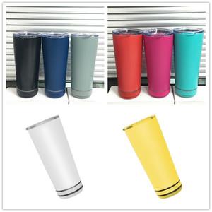 18oz Creative Bluetooth Haut-parleur Bouteille d'eau avec lampe flash Smart Tumbler Eco-respectueux de la grande capacité de grande capacité Coupes portables 8 couleurs