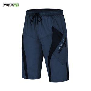 WOSAWE Men Cycling Shorts Downhill Road Baggy Shorts With 3D Padded Gel bermuda ciclismo Short Pants