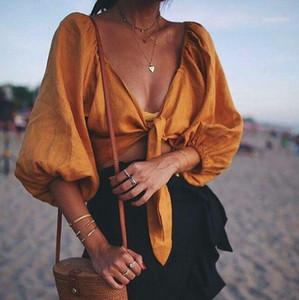 Camisa de la blusa sin tirantes de la curiosidad del pirata Mujeres del verano 2019 de la linterna de la linterna de la linterna de la linterna camisetas de las vacaciones sueltas casuales1