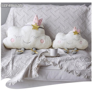 Baby Pillow Decorate Cloud Kids Baby Room Decor Cushion Cover Infant Cloud Plush Doll Toys Throw Pillow Baby Room Decoration LJ201014