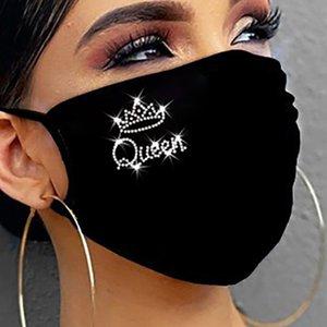 Carta QUEEN Rhinestone atractivo brillante Vino Rhinestone cristal Máscara máscara Decoración para Cara Discoteca diseñador de moda de Jewerly
