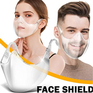 2020 Transparent face mask plastic non-breathing valve with breathing valve isolation mask color mask to cover the face splash