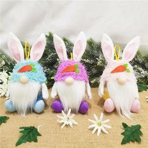 DHL Ücretsiz Paskalya Yüzü olmayan Tavşan Şeker Kavanoz 2021 Yaratıcı Tavşan Bunny Şeker Depolama Tutucu Çocuklar Paskalya Yumurta Şeker Hediye Toptan