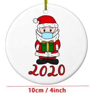 Nuevos adornos de Navidad Decoración de la Navidad Regalo Árbol de Navidad Santa Claus Deer Survivor Familia Árbol de Navidad Colgante con máscara DBC BH4358