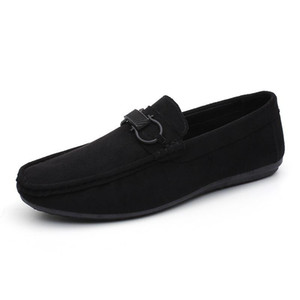 Fast shipping Summer Men Fass Slip On Men Casual Shoes Comfortable Suede Leather Lightweight Breathable Lazy Loafers