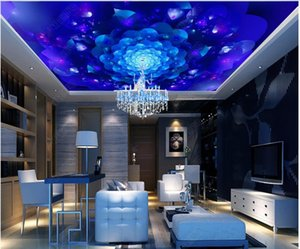Custom photo ceiling mural wallpaper 3D zenith mural Blue colorful pattern radiant bar KTV ceiling zenith mural wall papers home decoration