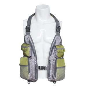 Quick-Dry Fishing Mesh Vest Multi-functional Breathable Tackle Storage Bag Vest Chest Bag for Outdoor Hunting Fishing