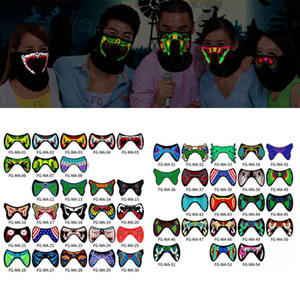 LED Luminous Flashing Face Mask Party Masks Light Up Dance Halloween masks Costume Decoration Cosplay Party Supplies props FFA3139