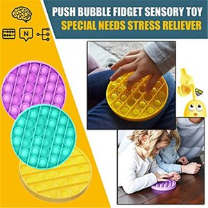 Estados Unidos Bubble Sensory Fidget Toy Autism Especial Precisa Stress Relisor Silicone Stress Reliever Toy Squeeze Toy Sensory