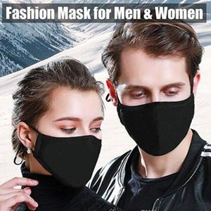 Wholesale Washable Pm2 .5 Mask Filter Anti Odor Smog Custom Cotton Pollen Dust Mouth Face Mask With 2 Filters