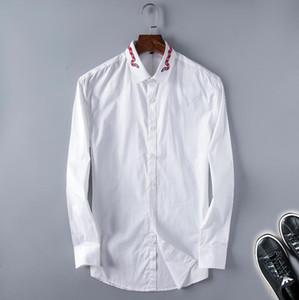 Homme à manches longues Oxford Formelle HighGrade Pure Coton Plaid Manchons à manches longues Homme Mens Slim Fit Chemise d'affaires occasionnel Top 8859