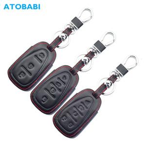 ATOBABI 5BTN cuir clé de voiture de cas pour Cheolet Cruze Malibu Equinox Sonic Traverse Camaro intelligente Keyl Entrée clés à distance Couverture