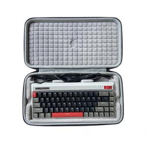 Storage Protection Hard Shell Bag Box Case for DURGOD Fusion 68-key Bluetooth 60% Mechanical Keyboard