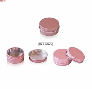 Rose Gold 10g 15g 25g 60g Aluminum Jars Lip Balm Pot Skin Care Cream Eyeshadow Lipgloss Base Foundation Container Tins A Cartongood qualtity