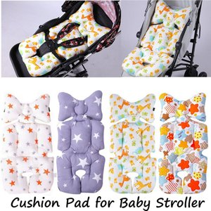 Baby Stroller Cotton Cushion Seat Cover Mat Breathable Soft Car Pad Pushchair Urine Pad Liner Cartoon Star Mattress Baby Cart 201021