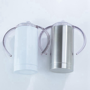 الفراغات التسامي الكؤوس 12OZ الدهنية الاطفال الكؤوس مستقيم فراغ زجاجة معزول كأس سيبي الفولاذ المقاوم للصدأ كؤوس المياه 35PCS DW6048