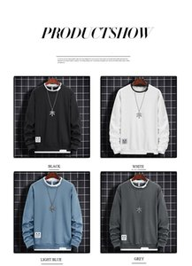 Autumn and winter handsome fashion multi color high quality men's sweater solid color O-Neck loose simple and versatile wear male's clothes