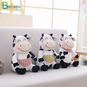 Babiqu Vaca 1pc 30 centímetros Kawaii Animais Crianças Milk Drop Shipping caricatura Gado Plush Brinquedos para Presente bonito Crianças