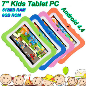Niños Tablet PC 7 pulgadas Quad Core Niños Tableta Android 4.4 Allwinner A33 Google Player WiFi Big Speaker Cubierta protectora
