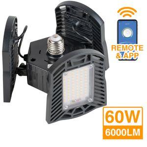 60W Aluminum Transformers Garage Light Foldable universal chandeliers Warehouse light Clover Ultra Bright