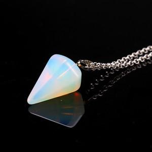 Pierre naturelle pendentif en cristal Collier Améthyste Collier Aquamarine Bijoux cru Cadeaux pierre pour filles bijoux personnalisés GGE1740