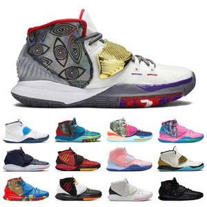 Alta calidad 6 hombres zapatos de baloncesto CNY Piscina vasta gris disparo reloj criado once curan el mundo Oracle Aqua para hombre zapatillas deportivas