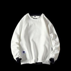 55% cotton spring round neck casual sweatershirts loose fashion streetwear plus size men hoodies 5XL