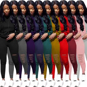 womens sportswear designer outfits long sleeve 2 pieces set tracksuit pullover leggings shirt pants sexy sports klw5079