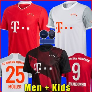Бавария Мюнхен 20 21 LEWANDOWSKI SANE футбольная футболка COMAN MULLER GNABRY DAVIES футбольная рубашка Мужчины + детская форма форма MUNCHEN 2020 2021 TOP