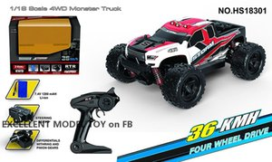 Remote Control Car Toy, High Speed 36 KM H, 1:18-Monster Race Power Wheels, Cool Drift, LED Lights, Multiplayer-Sport,Kid Christmas Boy Gift
