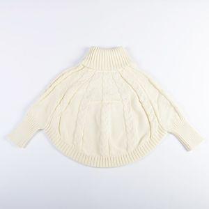 Vieeoease Girls Sweater Bat Sleeve Pullover Autumn Winter Fashion Knitting Cute High Collar Sweater Girls Clothing EE-828