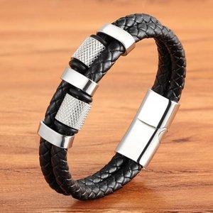 Bracelets Charm Bracelets 2021 Бренд Геометрическая из нержавеющей стали из нержавеющей стали Винтаж ручной работы плетеная мода мужская мужская манжета спортивный