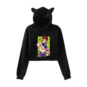 2020 cat ears hooded sweater short girl full-time hunter Hisoka hisoka hooded casual fashion cropped sweater