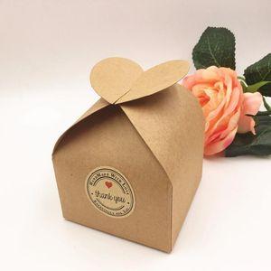 20pcs lot Kraft Wedding Party Favors Gift Boxes Blank Chocolates cake handmade Food candy Box 8*8*8.5cm Paper Stora bbysTd