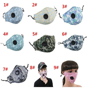Poeira Floral Camo Haze Boca de Algodão Anti Masks Protetora Dustape Proof Proface Máscara YYA62