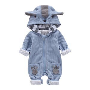 New Autumn Winter Baby Rompers Cute Hooded Cartoon Ear Infant Girl Boy Jumpers Kids Toddler Baby Boy Outfits Clothes