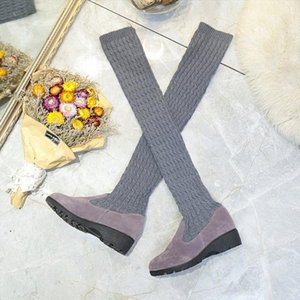 LCIZRONG Sock Long Boots Winter New Fashion Slip On Sock Shoes Woman Over The Knee Boots Thigh High Ladies Slim n8J2#