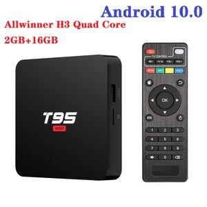 T95 Super Android 10,0 TV Boîte Allwinner H3 2GB RAM + 16GB 2.4G WIFI HD OTT MEDIA Player pk x96q x96