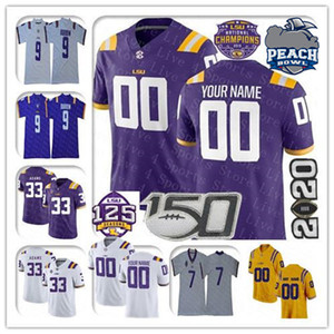 Custom 2021 College LSU Tigres Tigres Jersey Jamal Adams Joe Burrow John Emery JR Tyrion Davis-Price Kayshon Boutte Terrace Marshall Jr