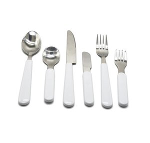 sublimation blanks Stainless Steel Hotel Western Steak Knives Forks and Spoons Tableware For Subulimation INK Transfer Print DIY
