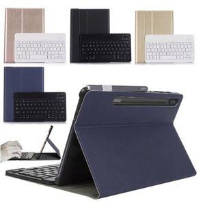 Samsung Galaxy Tab S7 + 12.4 T970 / T975 Защитный кронштейн и Bluetooth-беспроводная съемная клавиатура без планшета