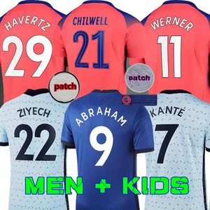 20 21 трикотажные изделия футбола ABRAHAM WERNER HAVERTZ Chilwell ZIYECH LAMPARD футбол рубашка PULISIC Camiseta Канте MOUNT 2020 2021 Men + Детский набор С.Е.