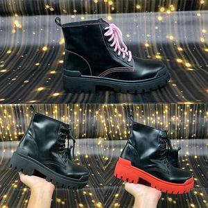 Nova greve Lace-up Bota Mulheres botas pretas rosa vermelha Paris Casual sapatos ao ar livre confortáveis sapatilhas clássicas Trainers populares US 5-10