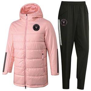 2020 Inter Miami CF Cotton coat Down Jackets pants zipper hoodie soccer training suit kits windbreaker winter tracksuit Sets Running Sets