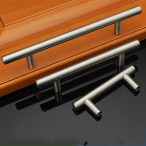 T Type Cabinet Handles Stainless Steel Cupboard Door Drawer Pulls Wardrobe Shoe Kitchen Cabinets Kitchen Accessories GH300 147 K2
